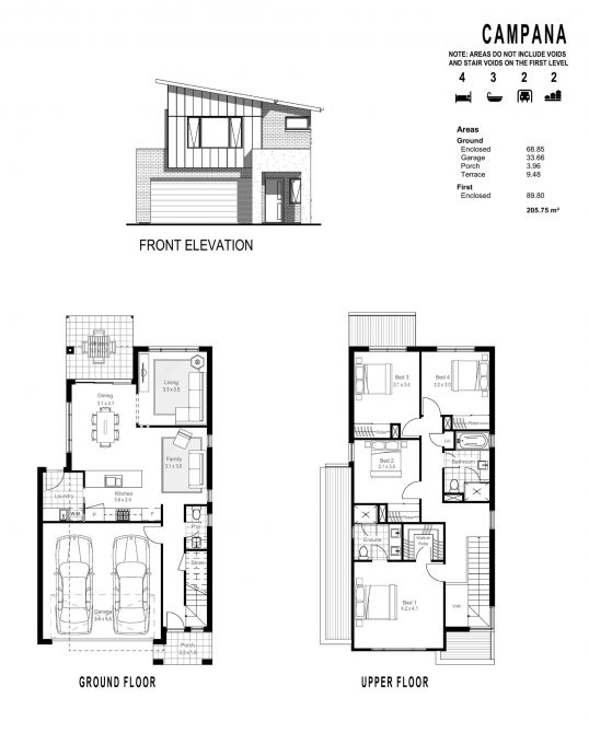 CAMPANA FLOOR PLANS_ FRONT ELEVATION-page-001