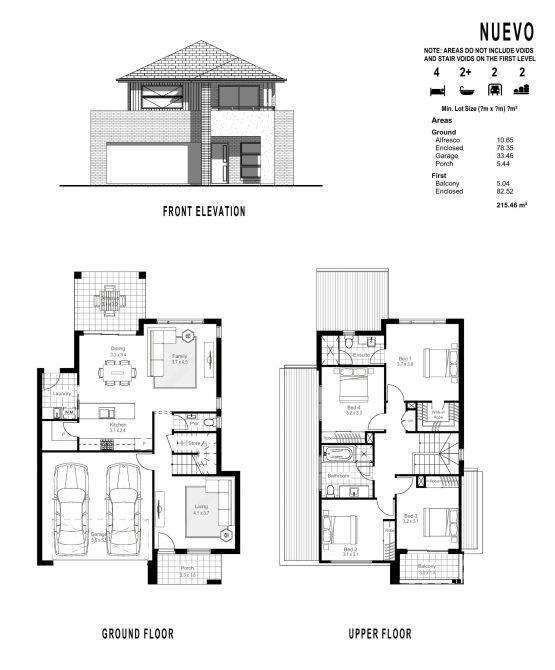 NUEVO FLOOR PLANS_ FRONT ELEVATION-page-001