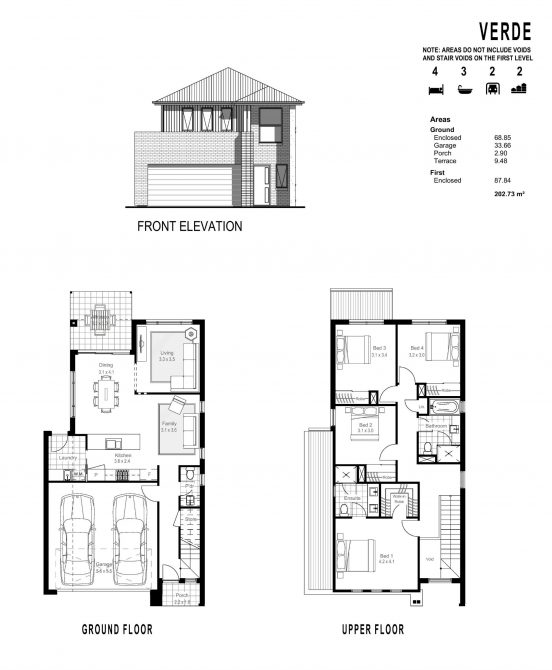 VERDE FLOOR PLANS_ FRONT ELEVATION-page-001