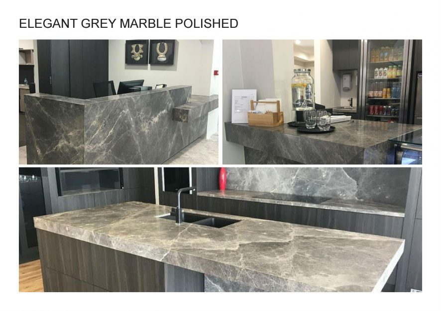 A. ELEGANT GREY MARBLE POLISHED