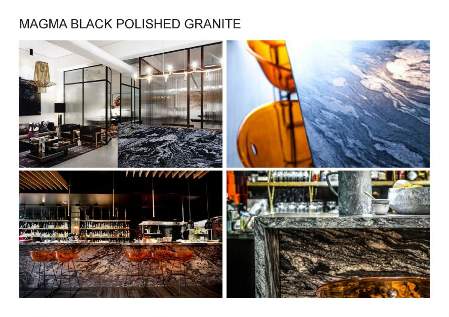 A. MAGMA BLACK POLISHED GRANITE