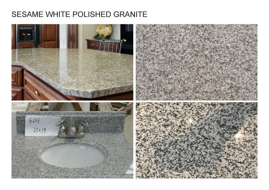 A. SESAME WHITE POLISHED GRANITE