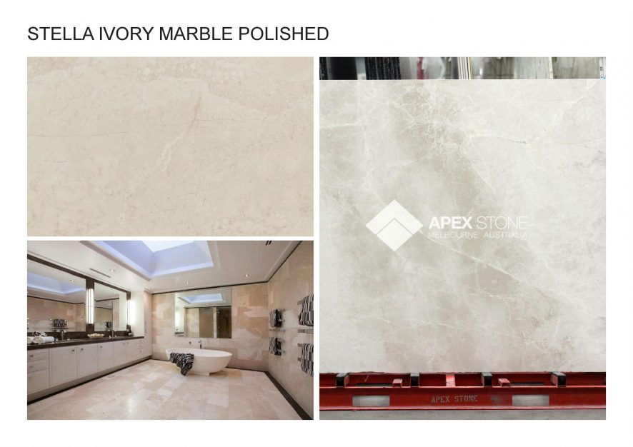 A. STELLA IVORY MARBLE POLISHED